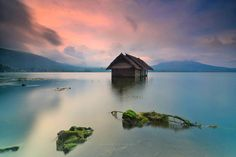 House by the lake - Sunset at Batur Lake, Kintamani, Bali, Indonesia  www.balitravelphotography.com instagram : hendrisuhandi