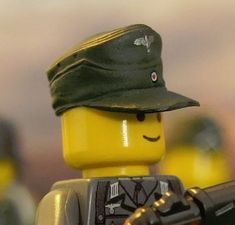 WW2 German Field Cap Olive Green Eagle Compatible With Custom Minifigures