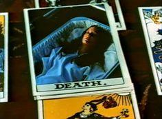 """Tarot, """"still"""" from the movie Necromancy (1972) #tarot #death #horror #occult #cartomancy #divination"""