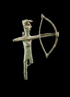 Sardinian bronze figure of an archer, 8th century B.C. 14 cm high. Private collection