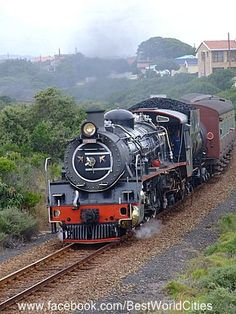 George (South Africa) Wish this train - the Outingiqua Choo-choo was still running. Such a fun trip between Knysna and George. I have been told that they are bringing back this train! George South Africa, South Africa Tours, Knysna, South African Railways, Places To Travel, Places To Visit, Old Steam Train, Namibia, Train Pictures