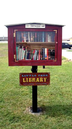 Trish Unzicker. Georgetown, TX. This library is located at the front of our property. Our library is made from recycled wood and tin from a barn in Illinois. When my husband asked me what I wanted for my birthday this year, I told him that I wanted a Little Free Library for our community. Our family loves to read and would like to share that love with our neighborhood.