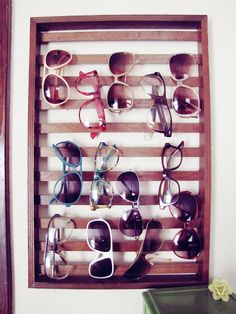 sunglasses hanger. I need this!