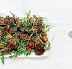 Nigella Lawsons lamb cutlets with mint, chili and golden potatoes