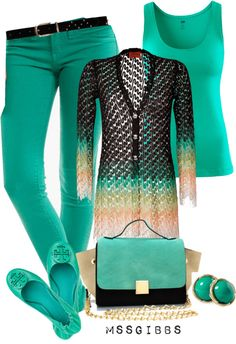 """Untitled Green "" Outfit and on Polyvore"