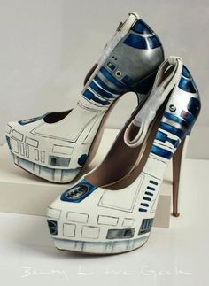 R2D2 heels! @Heather Sasse Your boys would love these!!
