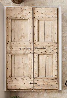 Rustic cabinet door style