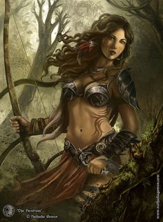 ArtStation - The Huntress, Nathalia Gomes