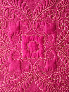 magenta fabric with gold stitching Hot Pink, Pink Love, Bright Pink, Pretty In Pink, Magenta, Couleur Fuchsia, Purple, Color Rosa, Pink Color