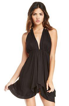 DAILYLOOK Open Back Jersey Knit Dress in Black XS - L | DAILYLOOK