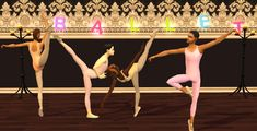ModTheSims - FreeTime: Ballet Leotards Pastels Collection for Teens