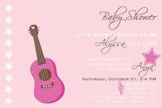 Baby Shower Invitation Rock Star Baby by AsYouWishCreations4u
