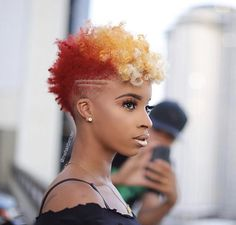 thehairbender we are just going to let these emojis speak for us. Natural Hair Short Cuts, Short Natural Haircuts, Tapered Natural Hair, Short Hair Cuts, Natural Hair Styles, Natural Mohawk, Curly Short, Natural Curls, Scene Hair