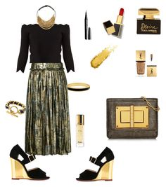 """""""Untitled #309"""" by valeria-coroianu on Polyvore featuring Maison Margiela, Alexander McQueen, Charlotte Olympia, Fairchild Baldwin, Halcyon Days, Chanel, Tom Ford, Dolce&Gabbana, Guerlain and Yves Saint Laurent"""