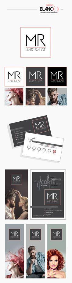 Diseño Corporativo MR Hair Salon por Diseño Blanco