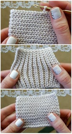 Crochet Tutorial - Today we are going to learn to crochet a fisherman's stitch. Sometimes this stitch maybe mistaken for the knit stitch and a lot of Crochet Diy, Tunisian Crochet, Learn To Crochet, Crochet Crafts, Crochet Projects, Crochet Granny, Sewing Projects, Ribbed Crochet, Crochet Cocoon