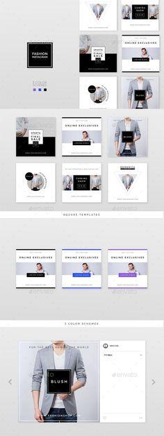 Banners & Ad Templates from GraphicRiver Social Media Images, Social Media Design, Banner Instagram, Publication Facebook, Banner Design, Layout Design, Food Web Design, Fashion Typography, Catalog Design