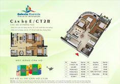 Căn hộ E, 3 phòng ngủ. Tòa căn hộ CT2B, CT3 - Chung cư Gelexia Riverside - 885 Tam Trinh