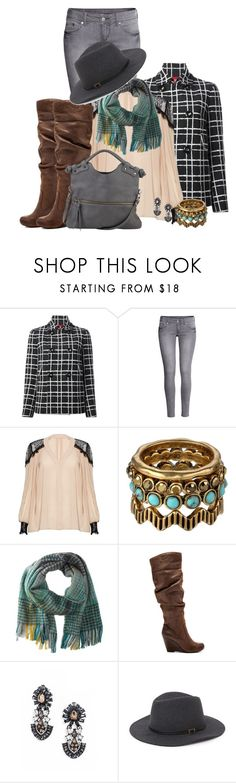 """Winter Office Wear"" by jkui ❤ liked on Polyvore featuring Dsquared2, H&M, Alice + Olivia, Lucky Brand, Echo Design, Jessica Simpson, BaubleBar, With Love From CA and Pietro Alessandro"