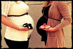 Maternity pics with friend