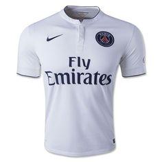 Nike Men s Paris Saint-Germain 14 15 Away Jersey Football White Midnight  Navy b8e12ba86