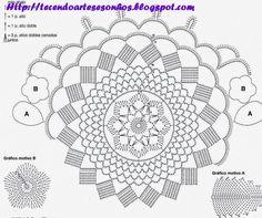 Tecendo Artes em Crochet: Mais um Centro Primavera - Encomenda entregue!