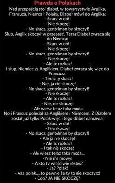 Prawda o Polakach Funny Text Memes, Funny Memes Images, Wtf Funny, Funny Photos, Hilarious, Polish Memes, Funny Mems, Got Memes, Funny Comics