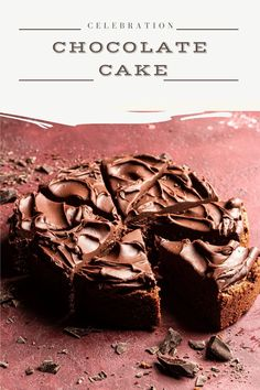 An easy, no mixer chocolate celebration cake. This cake is moist, tender, soft and a great dessert idea for valentines day, birthday or any other special occasion. Easy No Bake Desserts, Great Desserts, Best Dessert Recipes, Baker Recipes, Sweets Recipes, Muffin Recipes, Salted Chocolate, Chocolate Desserts, Valentine Desserts
