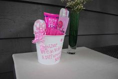 Foot Spa Gift Pail  Breast Cancer Awareness by ColorMeUncommon