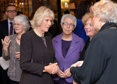 Camilla, Duchess of Cornwall meets volunteers and supportors as she opens the 'Fine Cell Work' Pop-up shop at Fortnum & Mason on December 3, 2014 in London, England.  (Photo by Anthony Harvey - WPA Pool/Getty Images)