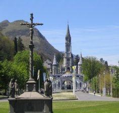 The Sanctuary of Lourdes in Lourdes, France. http://thecompletepilgrim.com/sanctuary-lourdes/