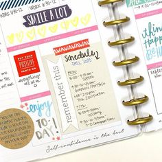 """""""#TheHappyPlanner spread by mambi Design Team member @heatherphotochic posted on the @meandmybigideas blog today showed how Heather used her #HappyPlanner to schedule her first week of school. She included this #POCKETPAGES card with her Fall 2015 semester written on it. ✏️ #BACKTOSCHOOL"""" Photo taken by @the_happy_planner on Instagram, pinned via the InstaPin iOS App! http://www.instapinapp.com (08/08/2015)"""