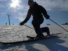 learn how to telemark ski - it is ballet on snow, such a beautiful thing to see when someone can make it look so easy