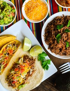 Slow Cooker Beef Brisket Tacos - The Spice Kit Recipes Beef Brisket Crock Pot, Crock Pot Tacos, Slow Cooker Beef, Slow Cooker Recipes, Mexican Food Recipes, Crockpot Recipes, Cooking Recipes, Mexican Dishes, Cooking Hacks