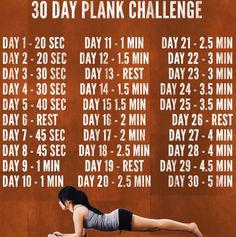 30 day plank challenge. Most effective yoga pose to make core and abdominal muscels stronger