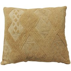 Natural Tone-on-Tone Raffia Velvet African Pillow | From a unique collection of antique and modern pillows and throws at https://www.1stdibs.com/furniture/more-furniture-collectibles/pillows-throws/