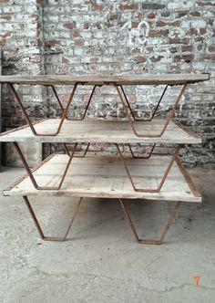 Table basse exterieure en bois