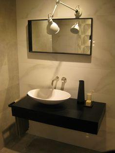 Sokos sit-on #washbasin designed by R&D #MastellaDesign @Marazzitile #Marazzi #showroom #Milan #designbasin #designbath #bathroom