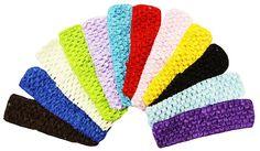 """12 Piece - 1.5"""" Crochet Headbands"""