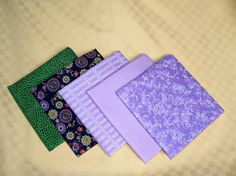 Quilting fabric bundle Patchwork cotton fabric by MargoCreative #fabric #bundle #set #patchwork #quilting #quilt #cotton #purple #green #floral #uni #solid #flower #dots #circles #rice