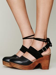 Free People Belmont Leather Clog at Free People Clothing Boutique - i found them!!! need. want.
