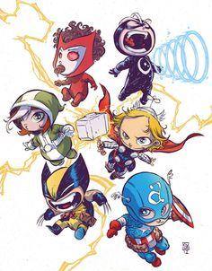 Uncanny Avengers by Skottie Young