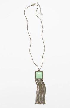 Fringe Pendant Necklace (Juniors) http://picvpic.com/women-jewellery-necklaces/fringe-pendant-necklace-juniors#mint