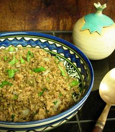 Freekeh pilaf with jalapenos, cumin and walnuts from This IS how I cook - A simple pilaf packed with flavors!