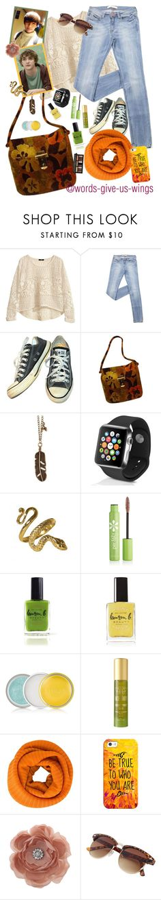 """""""ellie's horror film challenge!"""" by elliewriter ❤ liked on Polyvore featuring H&M, Converse, Apple, Per-fékt Beauty, Lauren B. Beauty, Clinique, Tracie Martyn, Pleats Please by Issey Miyake, Casetify and Miss Selfridge"""