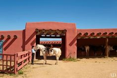 Forked Lightning ranch in New Mexico Barn was designed in 1960 by the firm of Santa Fe architect John Gaw Meem
