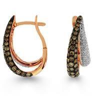 Mocha Diamond Yellow Gold Diamond Earrings