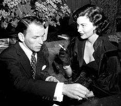 """""""Frank Sinatra and I did not kiss or make dates, but we knew, and I think it must have frightened both of us.""""- Ava Gardner"""