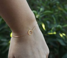 Gold ring bracelet 14k gold filled eternity ring by Hibiscusdays, $22.00
