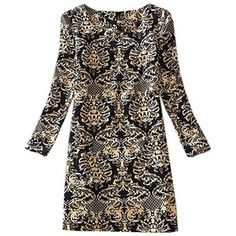 Women's Long Sleeve Floral Print Tunic Mini Dress Plus Size 8-18